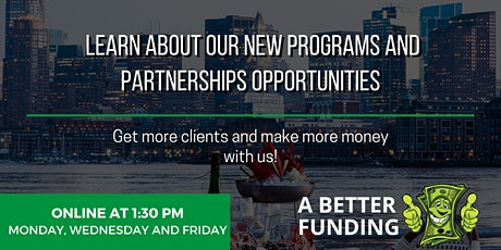 Join us to learn about our new programs and partnership opportunities. tickets