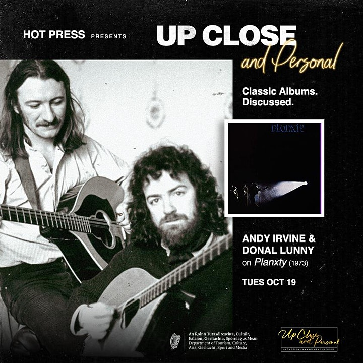 Andy Irvine and Donal Lunny - Up Close and Personal - Dublin image