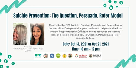 Suicide Prevention: The Question, Persuade, Refer Model tickets