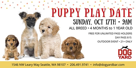 All Breed Puppy Play Date Meetup at the Dog Yard in Ballard - October 17th tickets