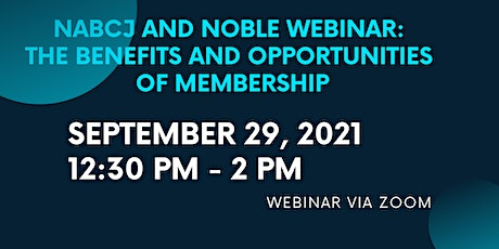 NABCJ AND NOBLE WEBINAR tickets