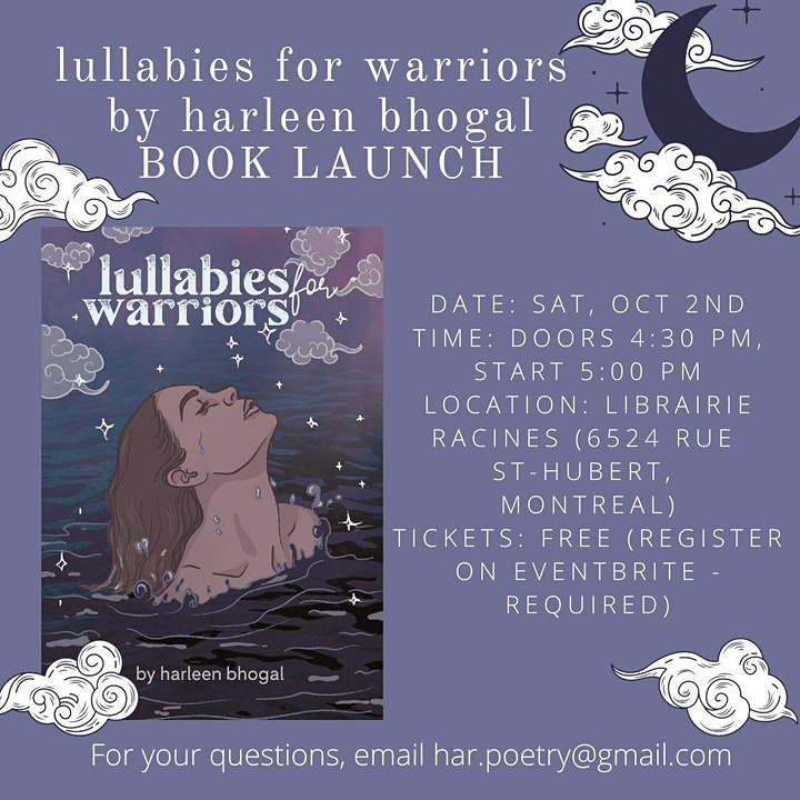 Book Launch: lullabies for warriors by harleen bhogal image