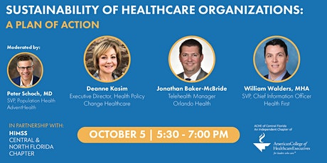 Sustainability of Healthcare Organizations: A Plan of Action tickets