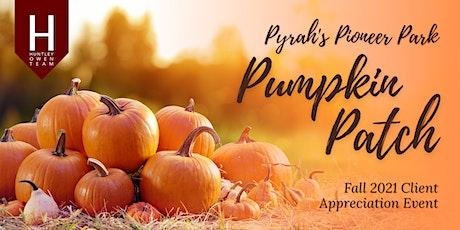 Huntley Owen Team's Pumpkin Patch at Pyrah's Pioneer Park! tickets
