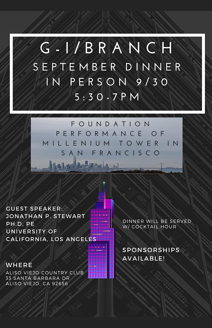 September GI/Branch Luncheon: FOUNDATION PERFORMANCE OF MILLENNIUM TOWER image