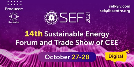 SEF 2021, 14th edition DIGITAL  Sustainable Energy Trade Show tickets