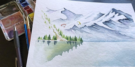 Painting in Watercolour Online - Mountains tickets
