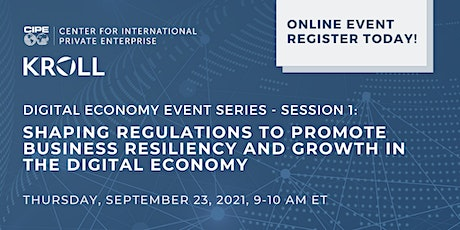Shaping Regulations to Promote Business Resiliency in the Digital Economy tickets
