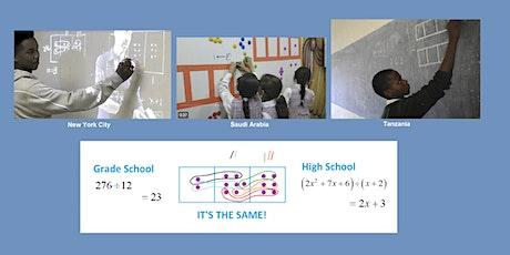 High-School Polynomial Algebra  = Fifth-Grade Arithmetic. A Workshop. tickets