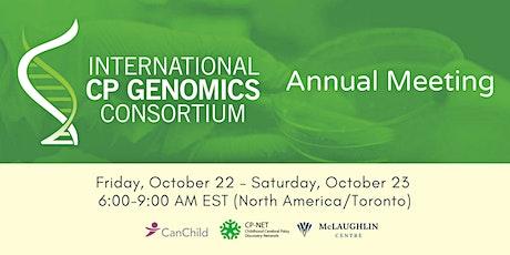 International Cerebral Palsy Genomics Consortium Annual Meeting billets