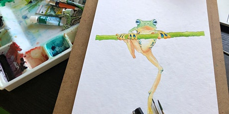 Painting in Watercolour Online - Little Froggy tickets