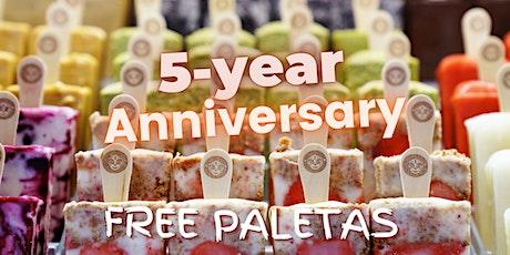 Morelia Free Paletas (Ice Cream) - 5 Year Anniversary - Miami Beach Store tickets