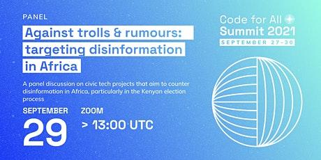 Against trolls & rumours: targeting disinformation in Africa tickets