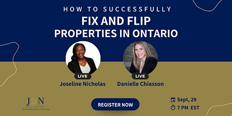 HOW TO SUCCESSFULLY FIX AND FLIP PROPERTIES IN ONTARIO! tickets
