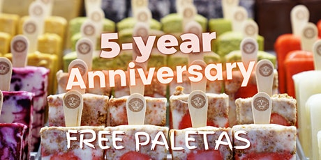 Morelia Free Paletas (Ice Cream) - 5 Year Anniversary - South End Store tickets