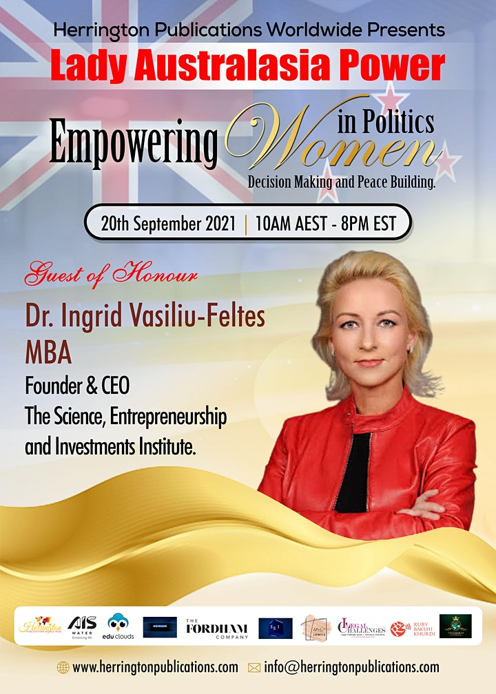 LADY AUSTRALASIA POWER GlOBAL BUSINESS CONFERENCE image
