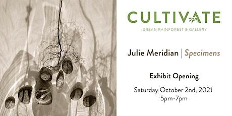 Julie Meridian Specimens Exhibit Opening tickets