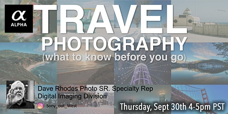 Travel Photography with Sony - Virtual Class tickets