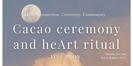 Cacao ceremony and heArt ritual {online} tickets