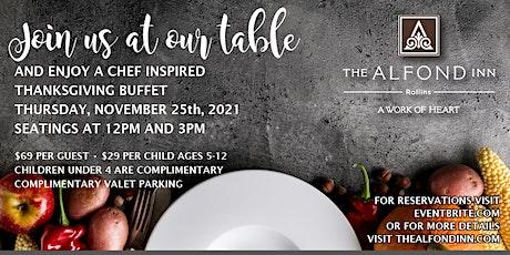 Thanksgiving Feast at The Alfond Inn tickets