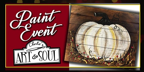 White Pumpkin on Wood Painting Event tickets