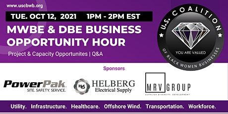 MWBE & DBE Business Opportunity Hour - Virtual tickets