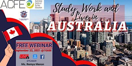 FREE WEBINAR: AUSTRALIAN CENTRE OF FURTHER EDUCATION tickets