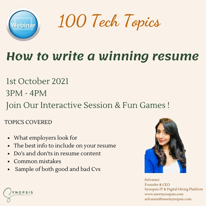 How to write a winning resume image