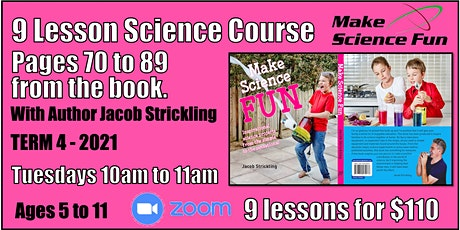 Make Science Fun the Book – Online Course - Pages 70 to 89  -  Ages 5 to 11 tickets