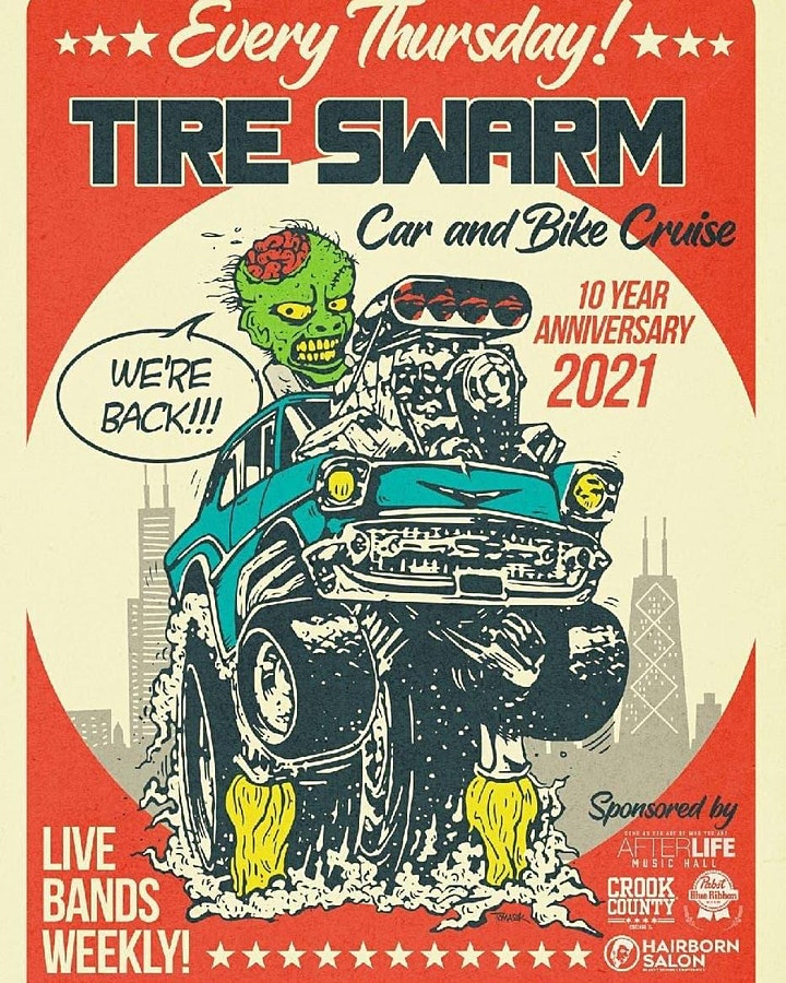 Tire Swarm Car Show with Black Bolts image