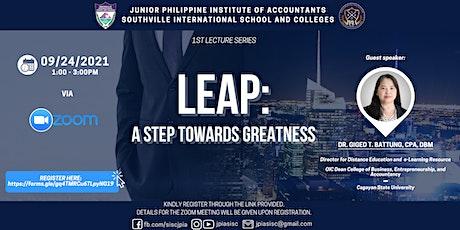 LEAP: A Step Towards Greatness  (Webinar) tickets