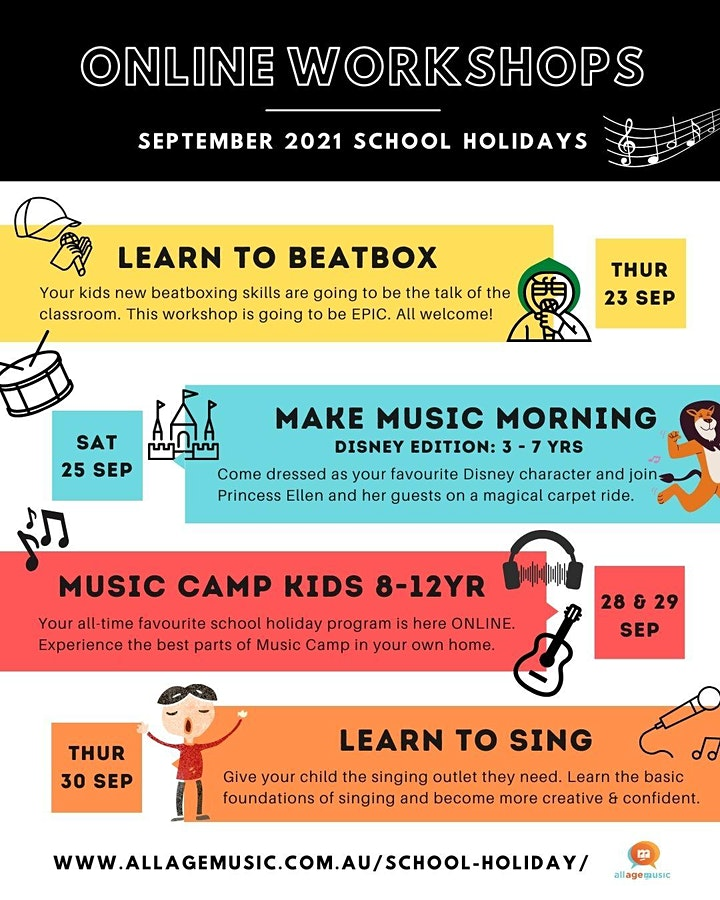 Learn to Sing: Introductory Online School Holiday Workshop image