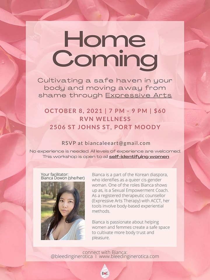 HOME COMING - Cultivating a safe haven in your body through Expressive Arts image