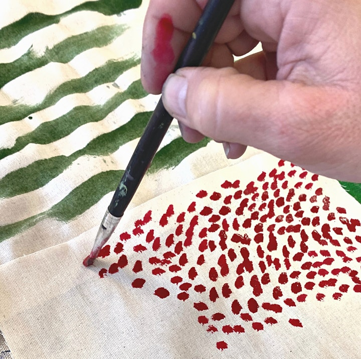 Holiday Dyeing and Fabric Painting - Weekend Workshop image
