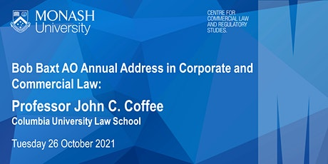 Bob Baxt AO Annual Address: Professor John C. Coffee tickets