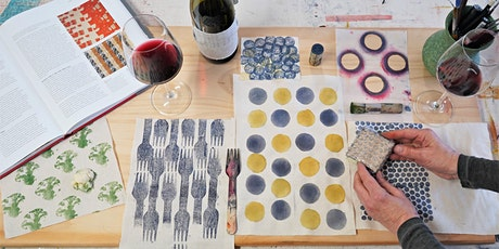 Inky Art Wine Night: Stamping, Stencilling, Markmaking and Beyond! tickets