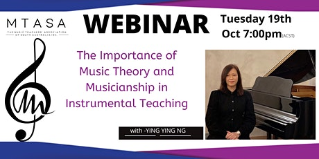 MTASA Webinar:The Importance of Music Theory and Musicianship tickets