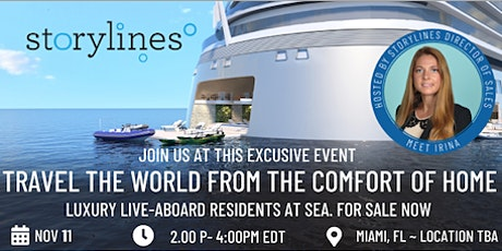 """""""Storylines Soiree: Luxury live-aboard Q&A"""" in Miami tickets"""