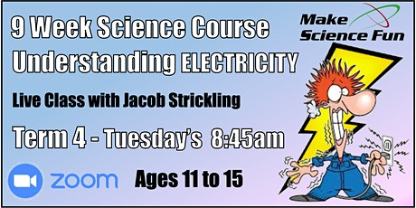 Understanding Electricity - Online Course with Jacob - Ages 11 to 15 tickets