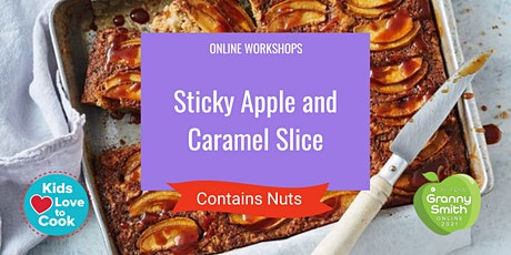 Sticky Apple and Caramel Slice tickets