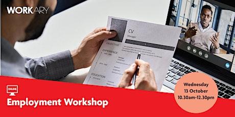 WEBINAR: Employment Workshop tickets