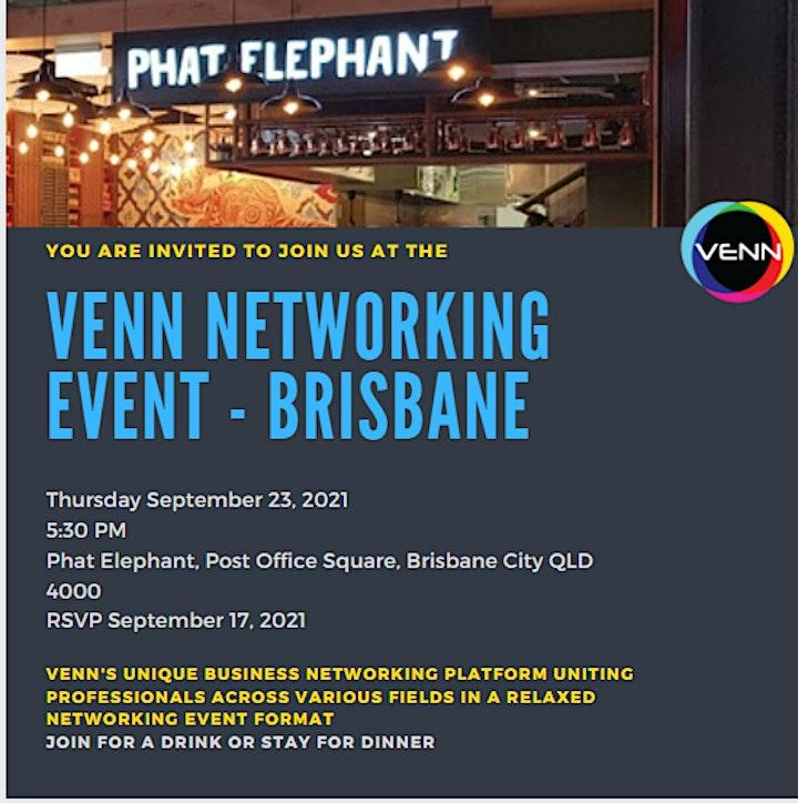 VENN Networking Event - 23 September, 2021 - Phat Elephant, Brisbane image
