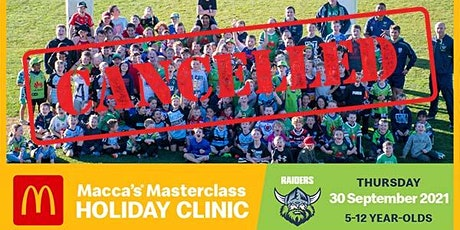 Macca's Masterclass Holiday Clinic - CANCELLED tickets