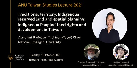 Indigenous Peoples' land rights and development in Taiwan tickets