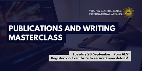 Publications and Writing Masterclass tickets