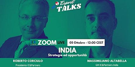 Export Talks - Focus India biglietti