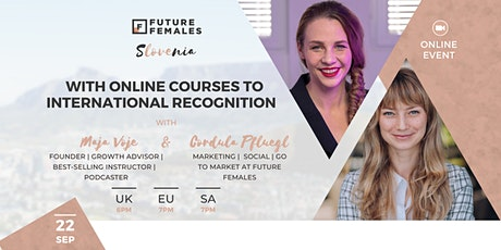 With Online Courses to International Recognition | FF Slovenia tickets