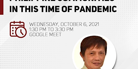 """""""Health Issues in Philippine Communities in this Time of Pandemic"""" tickets"""