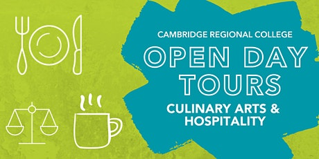Culinary Arts & Hospitality Open Day Tours tickets