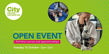 City College Southampton Open Event - 12th October tickets